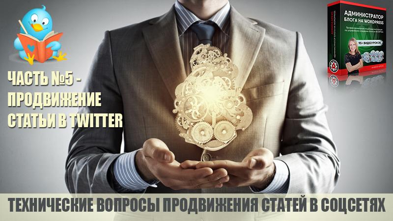 Технические вопросы продвижение статьи в Твиттер. Технические вопросы продвижения статей блога на WordPress в социальных сетях. Часть 5.